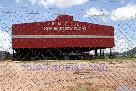 PRODUCTION at the steel plant in Kafue is about to start. The plant is almost complete