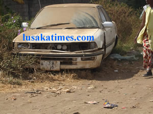 File:Zambian compounds are fast becoming a dumping ground for old broken down Japanese cars