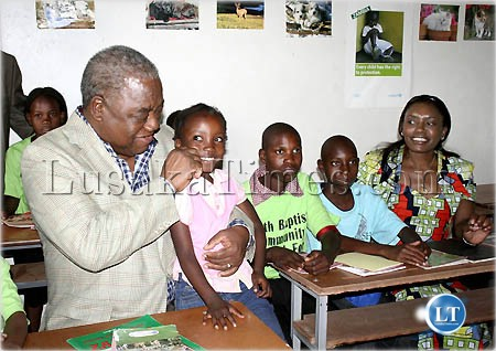 File picture:Former President Banda and former First Lady Thandiwe interact with deaf children at an orphanage in Lusaka.