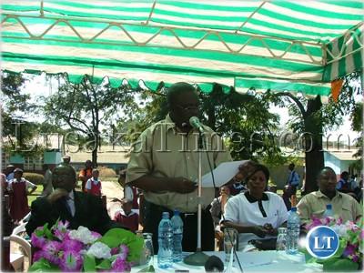 MMD treasurer Mwansa Mbulakulima