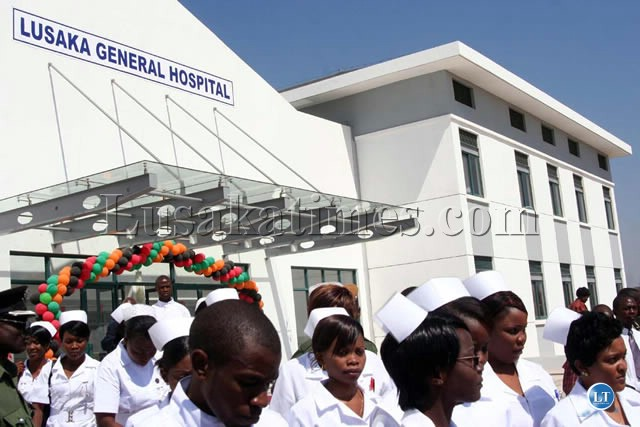 Medical personnel at the opening ceremony of Lusaka General Hospital