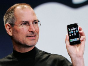 Steve Jobs launching the iphone