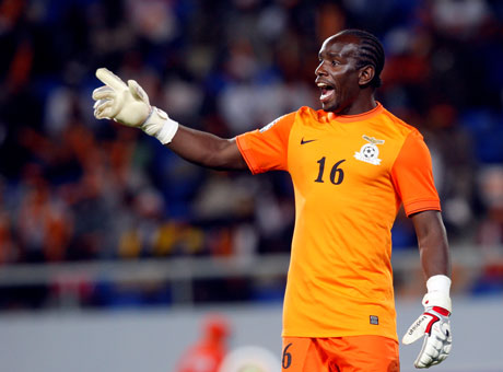 Zambia National Soccer team Goalkeeper Kennedy Mweene