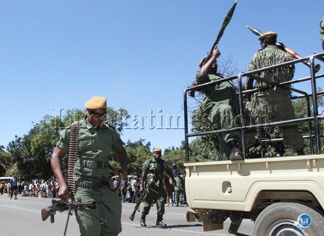 paramilitary security display