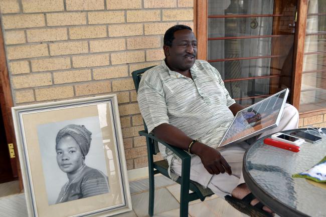 First Republican President Kenneth Kaunda's Son Kaweche Kaunda at the Funeral House