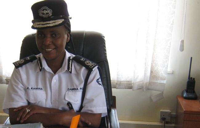 Lusaka Police Chief, Joyce Kasosa