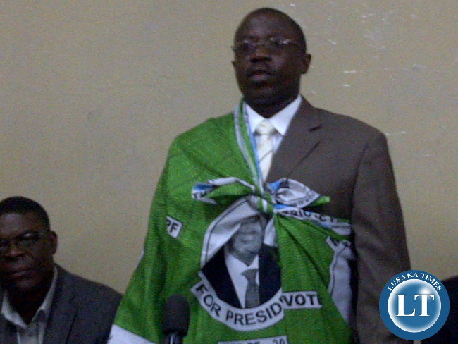 Movement for Multi-party Democracy (MMD) Chairperson for Elections, Gabriel Namulambe