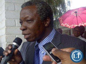 Mike Mulongoti addressing the media at the conference