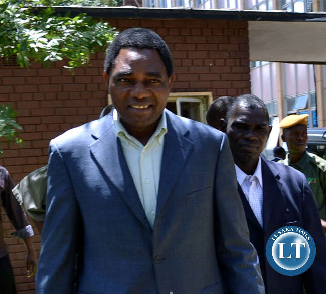 Opposition UPND leader Hakainde Hichilema