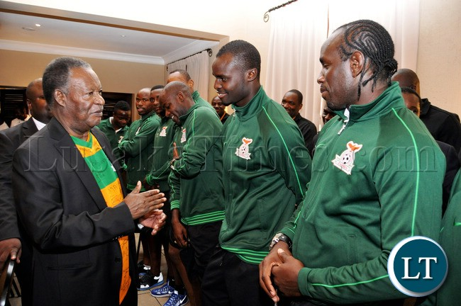 President Greeting National team Players