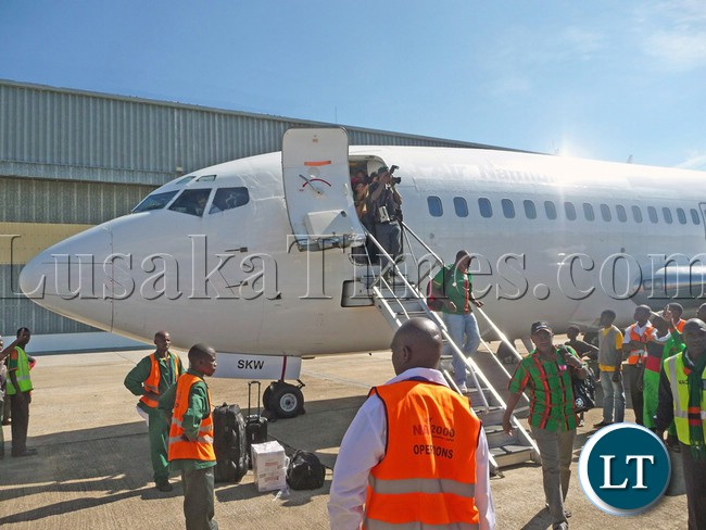 A Boeing 737 similar to that being introduced by Proflight Zambia