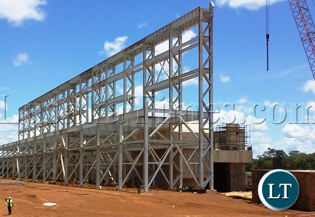 FIRST Quantum Minerals (FQM) Plant under construction in Solwezi