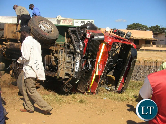 File:Three people died in a fatal road accident that occurred within the town center of Mkushi