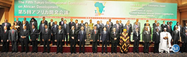 FILE: Heads of States pose for a photograph shortly before the   opening of the  5th Tokyo International Conference on African development at Pacifico Yokohama Conference Centre in Japan