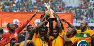 Zambia winners of the 2013 Cosafa Cup Final Match mach between Zimbabwe and Zambia on the 20 July 2013 at Levy Mwanawasa Stadium, Zambia ©Muzi Ntombela/BackpagePix