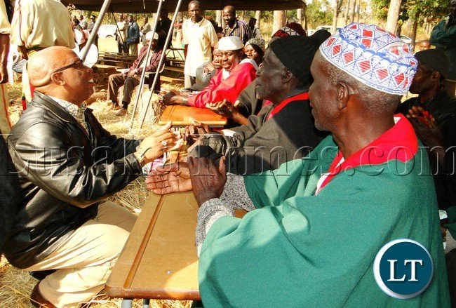 File:Movement for Multi-party Democracy (MMD) President Dr. Nevers Mumba paying homage to Bemba royal Indunas (Bashulubemba) when the late Paramount Chief Chitimukulu was being royally sent off for burial at shimwalule in Chinsali district  2013
