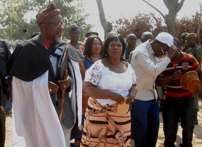 FILE: CHIEFS and Tradition Affairs Minister Professor Nkandu Luo Senior Headman Natende walushiba also known as Dr. Katele Kalumba