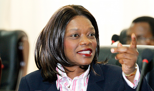 Tourism and Arts Minister Sylvia Masebo