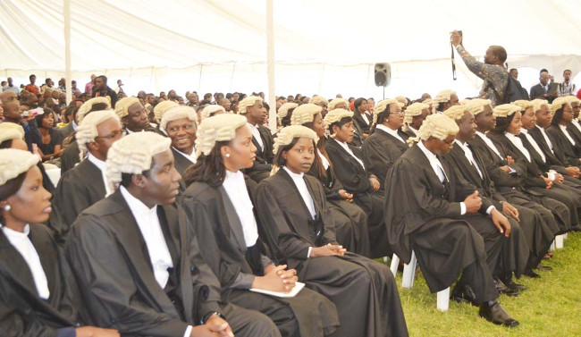 PART of the 64 lawyers who were admitted to the bar during the Call Day for Petitioners in Lusaka