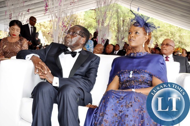 Robert Mugabe with wife Grace Mugabe