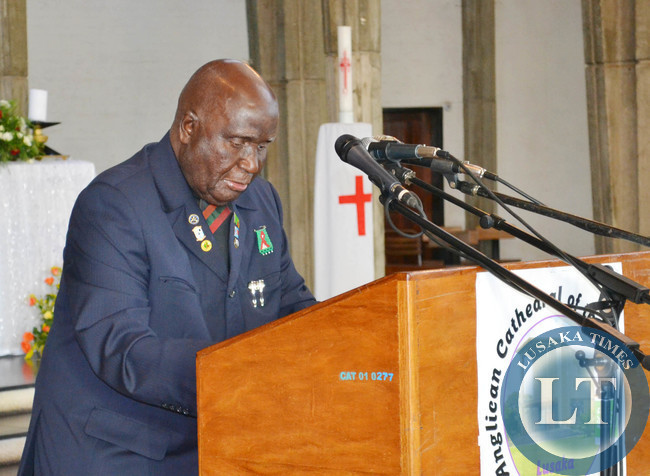 First Republican President Kenneth Kaunda a church service commemorating his 90th birthday at at Cathedral of the Holy Cross in Lusaka