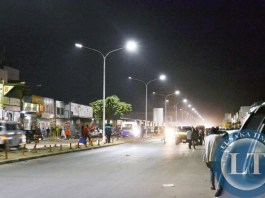 New street lighting on major roads in Lusaka city centre has improved the outlook of the central business district following acquisition and installation of the lights. Above is part of Freedom Way where motorists and pedestrians are now able to do their activities without fear of being mugged
