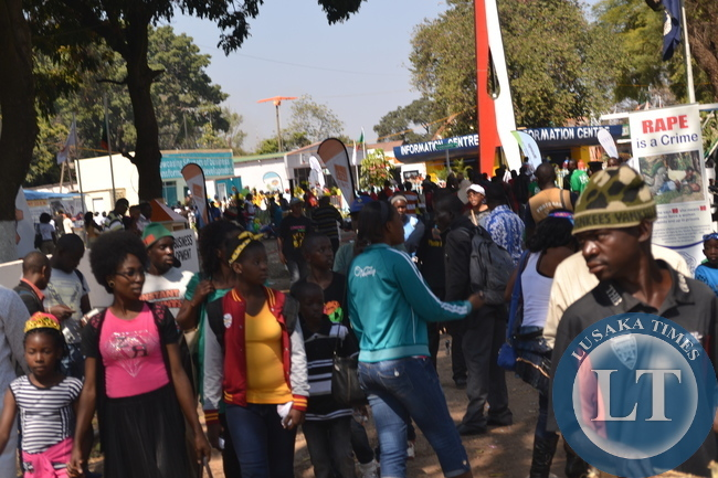 Zambia International Trade Fair (ZITF) climax: Showgoers get busy during this year's ZITF in Ndola