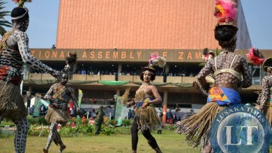 Traditional dancers in action at Parliament grounds