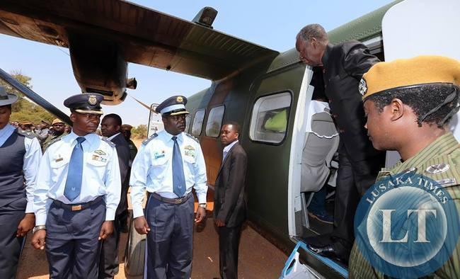 President Sata in Mkushi