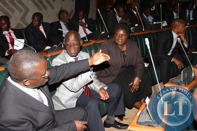 Members of Parliament during the opening of Parliament by President Sata on September 19,2014 -Picture by THOMAS NSAMA