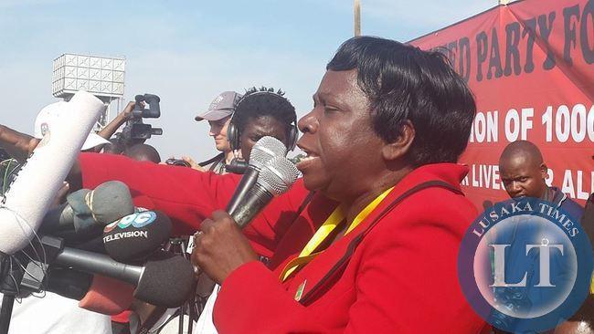 UPND Chairperson Mutale Nalumango