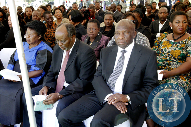 Charles Milupi  during  the Interdenominational Thanks giving requiem church service of President Sata at Parliament in Lusaka  on November 10,2014 -Picture by THOMAS NSAMA