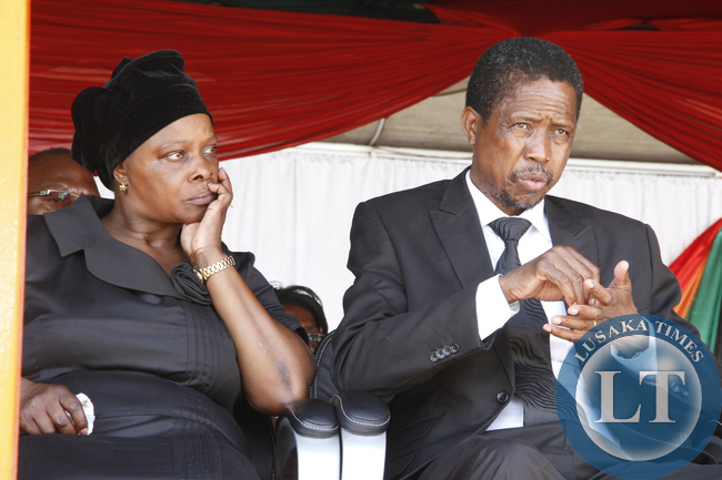 Defence and Justice minister Edgar Lungu at Parliament for the Interdenominational Thanks giving requiem church service of President Sata on November 10,2014 -Picture by THOMAS NSAMA