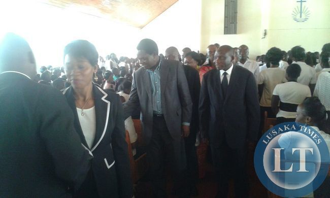 Kitwe's New Apostolic Faith Central Church in the morning
