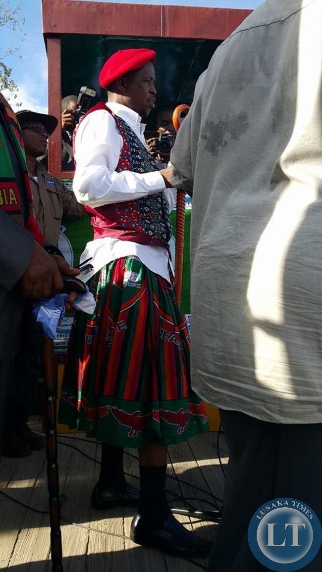 Edgar Lungu at the rally