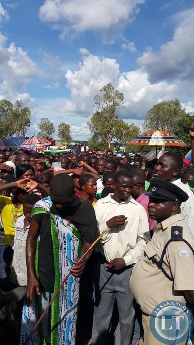 Part of the Crowd in Mongu addressed by Edgar Lungu