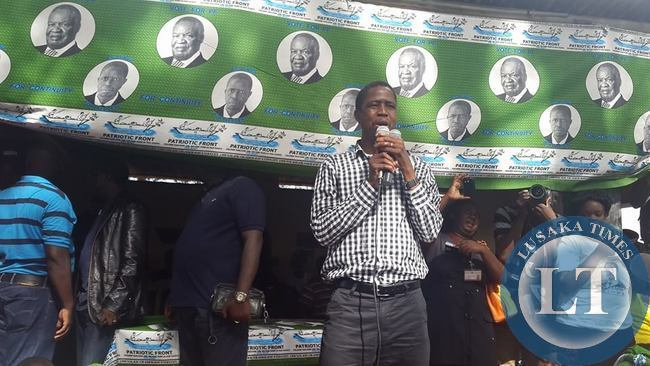 Edgar Lungu Addressing Rally held at President's Park in Luwingu