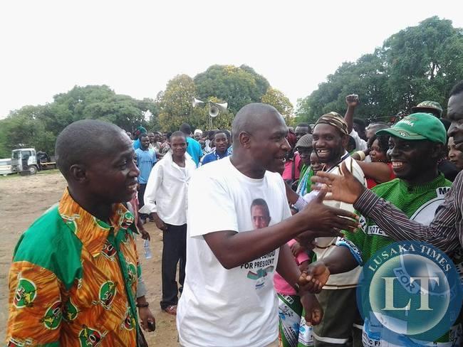 Father Bwalya at PF rally
