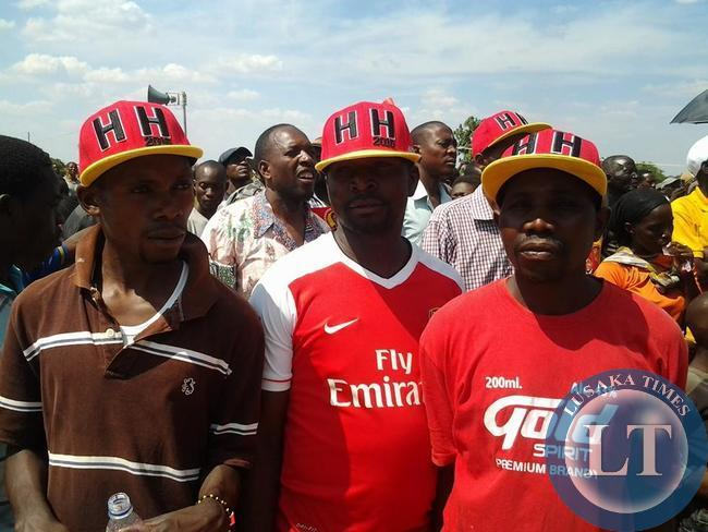 UPND Cadres at a Rally in Kabwe