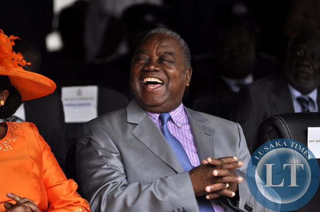 Former president Rupiah Banda at Edgar Lungu's innauguration