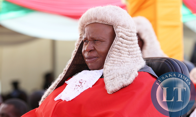 Lady justice Lombe Chibesakunda acting Chief Justice