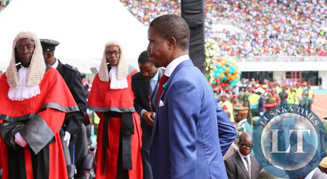 President Edgah Lungu with Supreme Court Judges -8693