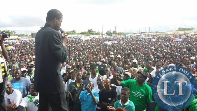 Edgar Lungu Addressing Chongwe crowd