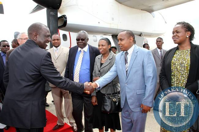 Kenya's Deputy President William Ruto on arrival at KKI