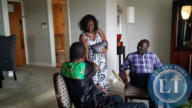 Deputy President of Kenya Willian Ruto introduces wife to Edgar Lungu