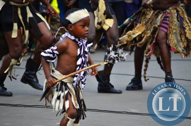 A young Ngoni figther was a darling of the crowd during the street carnival with his enthrilling performances