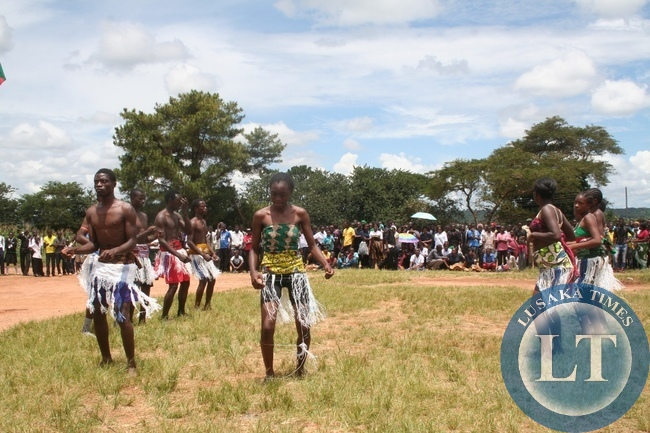 Pupils from Solwezi Urban secondary school of the deaf dancing during Youth Day celebration in Solwezi