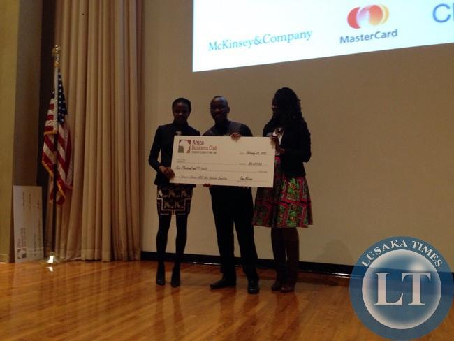 DOt com team receiving a check of $15000