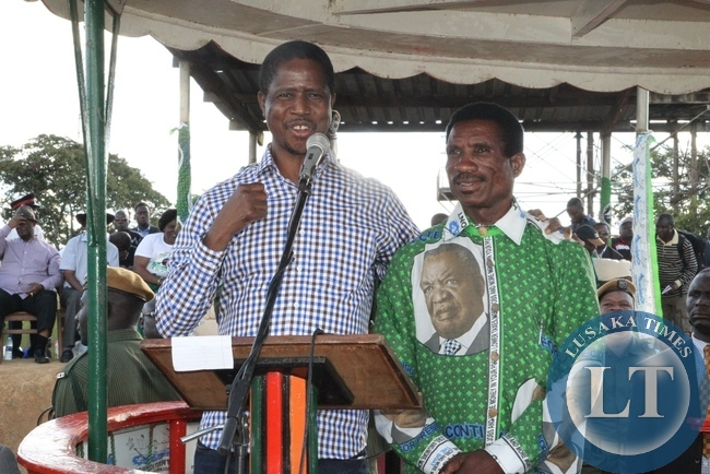 President Edgar Lungu Introduces Micheal Katambo to the voters in Masaiti during really
