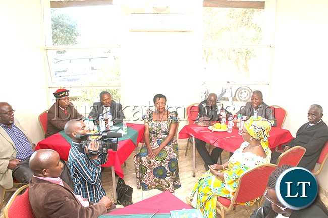 The First Lady Mrs Esther Lungu confers with Muchinga Chiefs